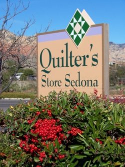 Quilters Store Sedona Sign